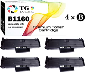 (4-Pack) TG Imaging Compatible 331-7335 B1160 Toner Cartridge for Use in Dell Laser B1160 B1160w B1163w B1165nfw Printers