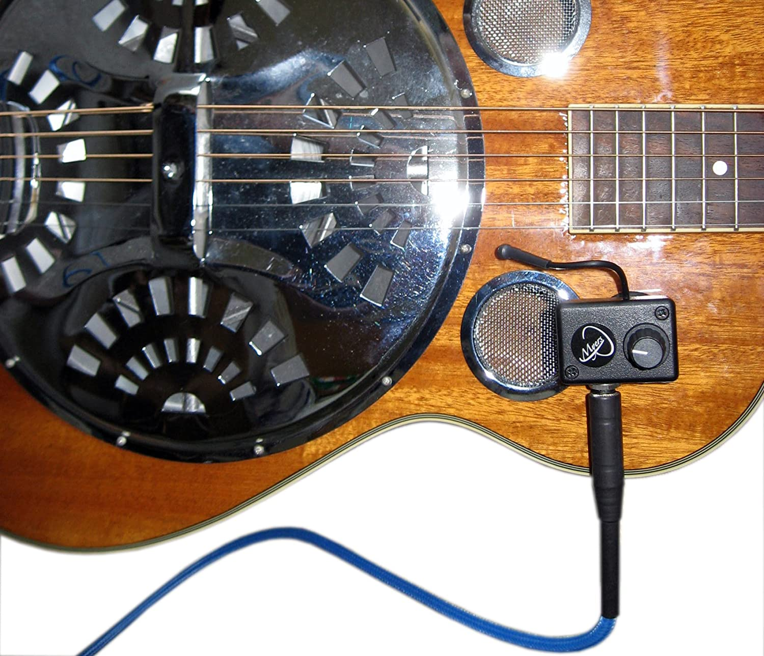 NATIONAL RESOPHONIC STYLE O RESONATOR GUITAR PICKUP with FLEXIBLE MICRO-GOOSE NECK by Myers Pickups ~ See it in ACTION! Copy and paste: myerspickups.com 22