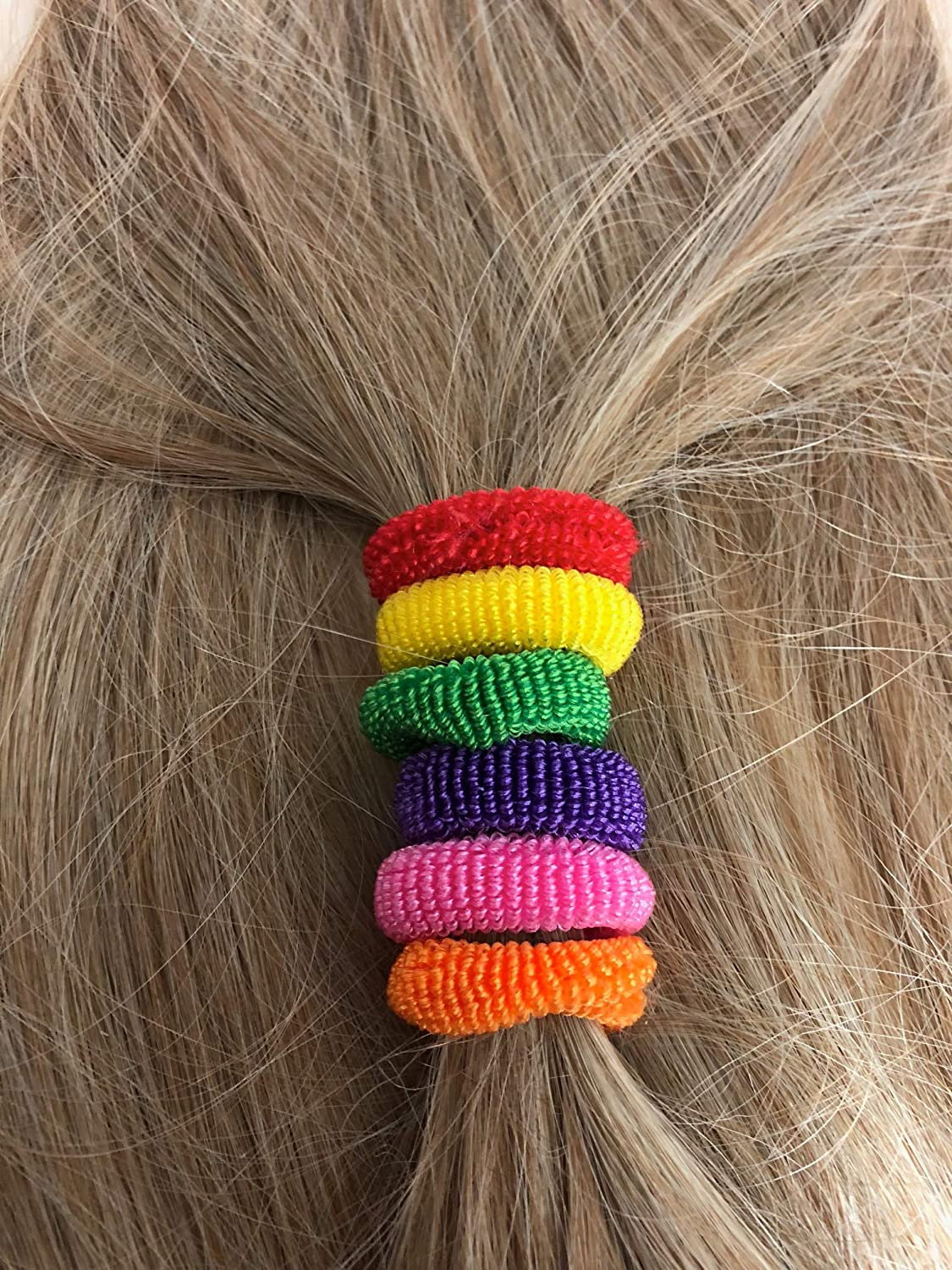 Grids London 50 Hair Bobbles Pack of Girl's Hair Bands Mini Baby Ponytail Elastic Stretchy Hairband Grids London Ltd
