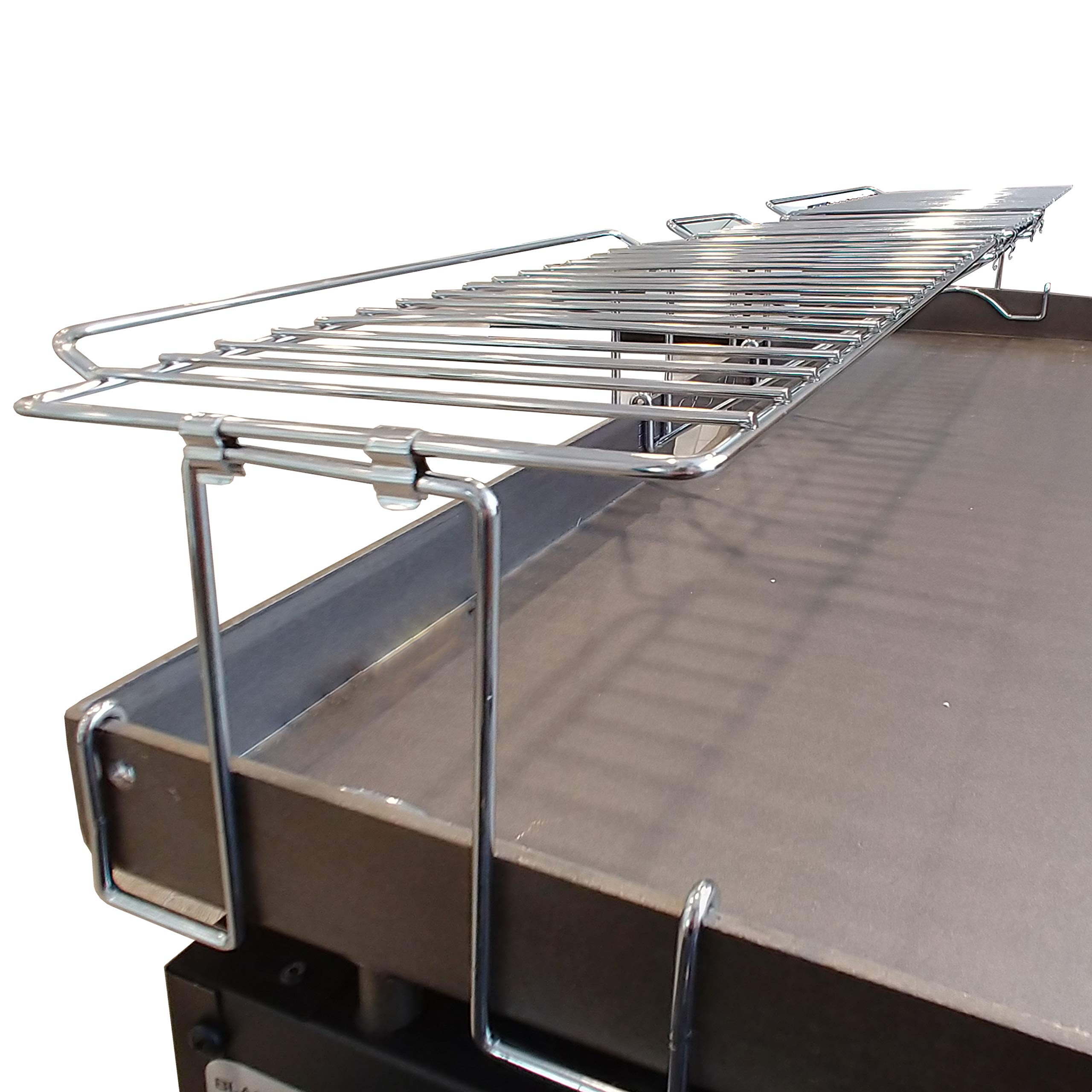 Yukon Glory Premium Stainless Steel 36 Inch Warming Rack, Designed for Blackstone Griddle, Clips on for Sturdy Durable Use