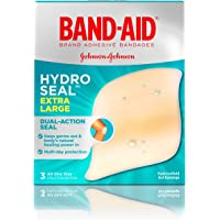 Band-Aid Brand Hydro Seal Extra Large Adhesive Bandages for Wound Care & Blisters, All Purpose Waterproof Blister Pad…