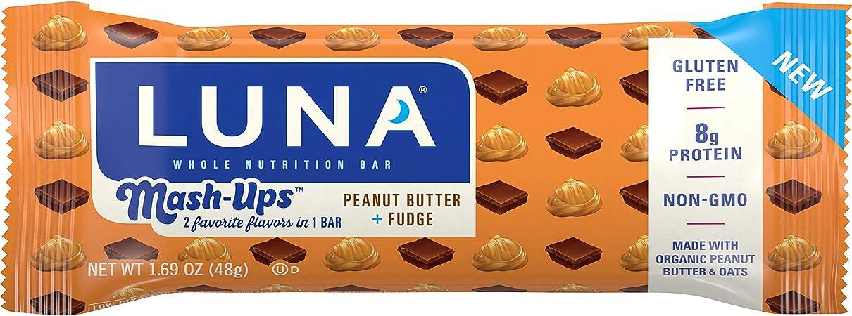 Amazon Com Luna Bar Mashups Gluten Free Snack Bars Peanut Butter Fudge 1 69 Ounce Snack Bar 15 Count Health Personal Care