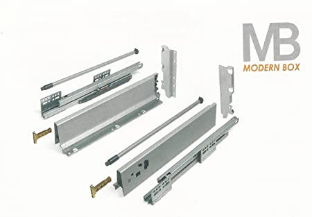 Soft Close Kitchen Drawer Runners System L   500mm Modern Box (1 Pair X High