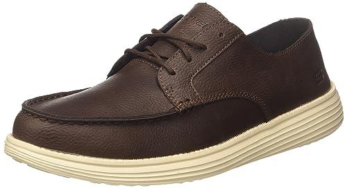 Skechers Status-Lerado, Mocasines para Hombre: Amazon.es: Zapatos y complementos