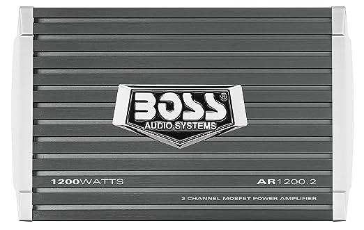 BOSS AR1200.2 2.0channels Coche Alámbrico Gris - Amplificador de audio (2.0 canales, 600 W, 0,01%, 105 dB, 230 W, 1200 W): Amazon.es: Electrónica