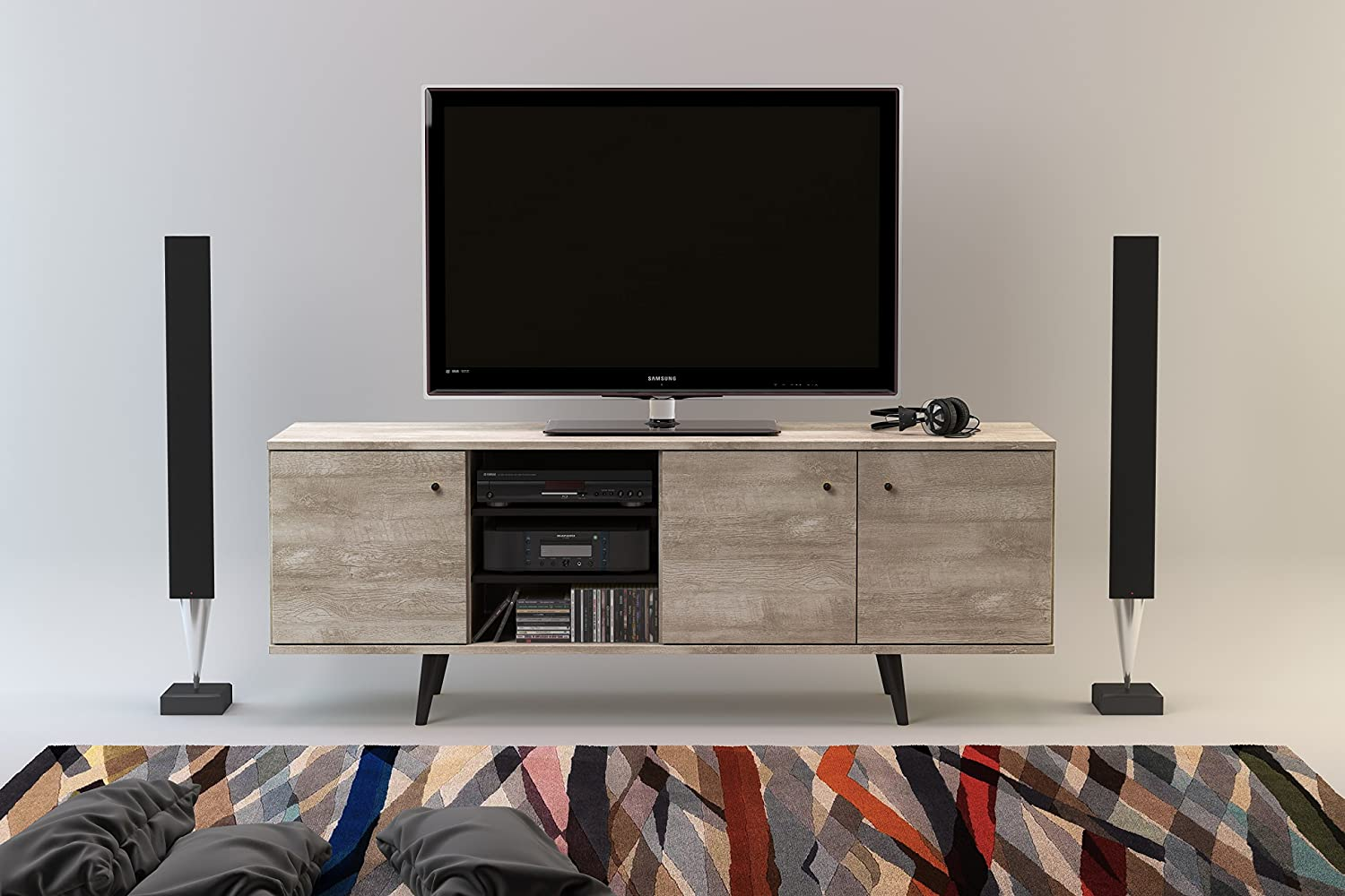 home oslo mid century oslotv tv console gingko modern cabinet products furnishings media