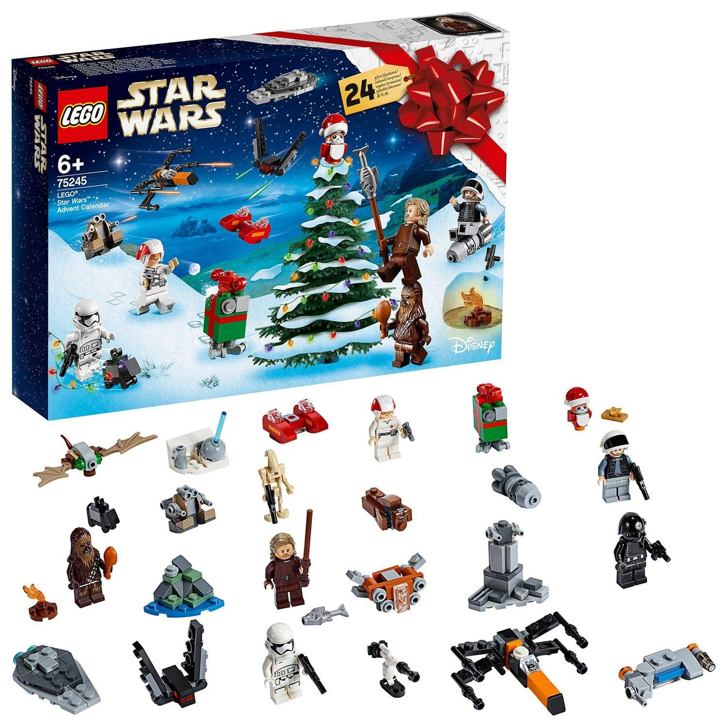 Lego Weihnachtskalender 2019.Lego 75245 Star Wars Advent Calendar 2019 Christmas Countdown Building Set With 24 Buildable Mini Sets Plus 6 Minifigures And 4 Droid Figures