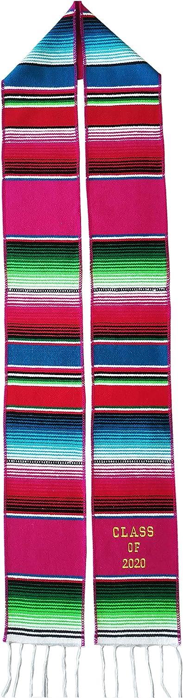 Yani/'s Gifts Mexican Graduation Stole Class of 2020 Pink Hispanic Stole Graduation Serape Sash