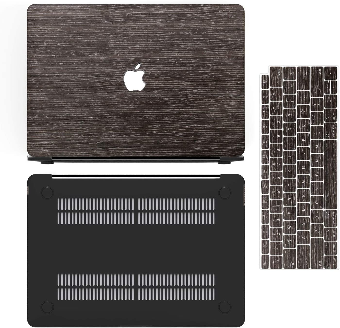 Teak Anban Ultra-Slim Wooden Hard Corner Protective Shell Cover with Keyboard /& Screen Protector Compatible for MacBook Air 13 Inch with Touch ID MacBook Air 13 Inch Case 2019 2018 Release A1932