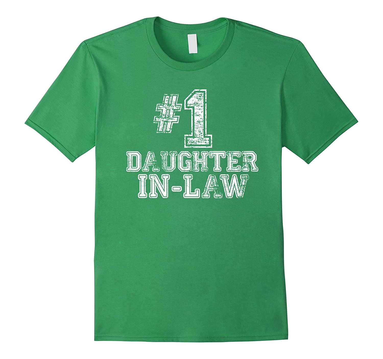 #1 Daughter-in-Law T Shirt -Number One Mother's Day Gift Tee