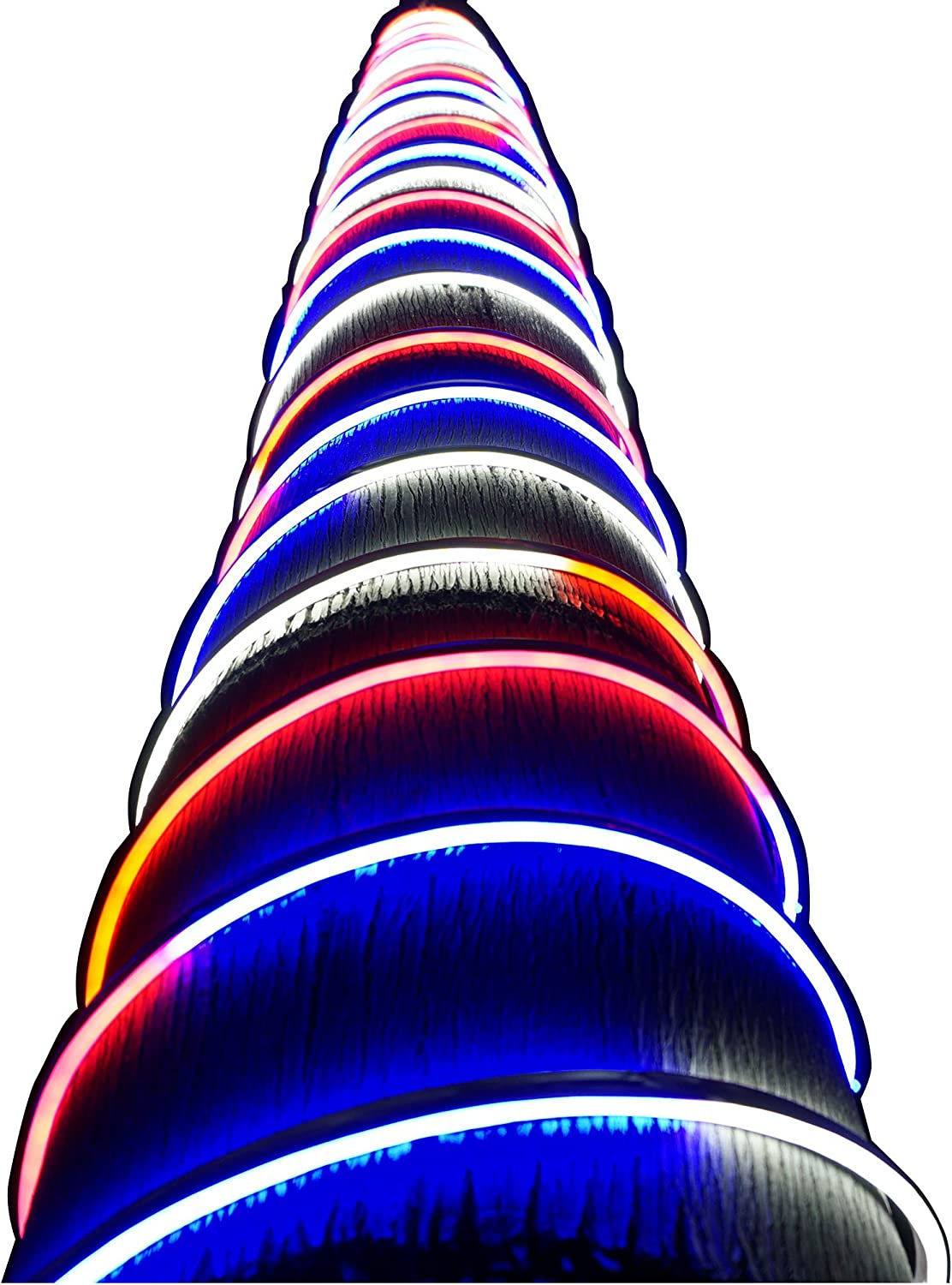 Russell Decor 30ft Red White Blue LED Neon Rope for 4th July Patriotic Memorial Day Patio Deck Waterproof SMD Tube Lights