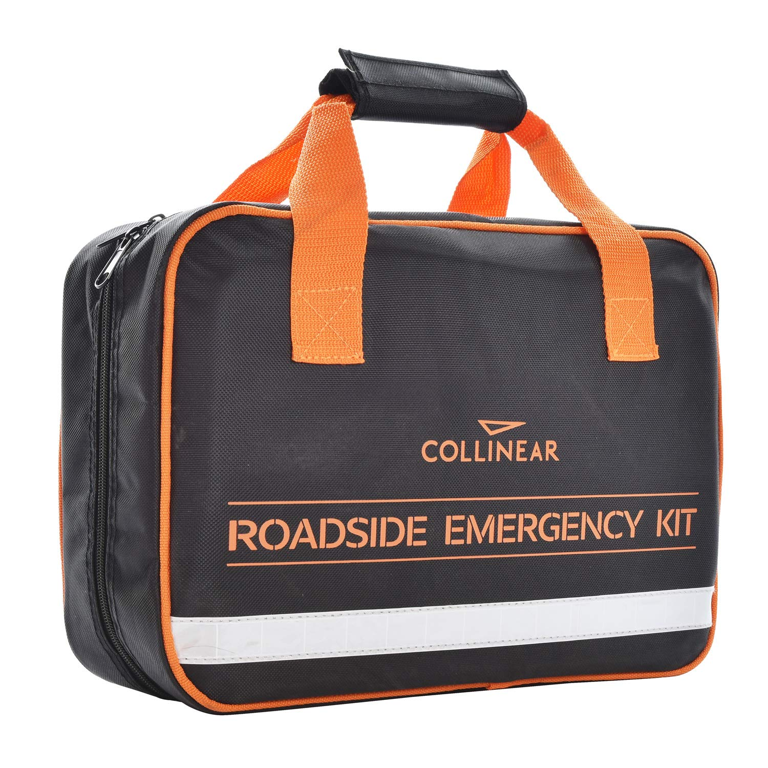 Collinear Roadside Emergency Kit Multifunctional Auto Roadside Assistance Car Premium Road Tool Kit Contains Jumper Cables Tool Bag Reflective Safety Triangle and More Ideal Survival Pack Accessories