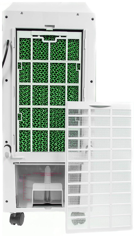 Luftk/ühler Klima Ventilator mit Fernbedienung Mobile Klimaanlage 3in1 Aircooler Air Cooler Luftbefeuchtung Luftreiniger Klimager/ät 3 Geschwindigkeitsstufen Klima Anlage Timer