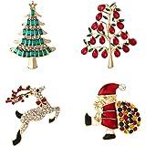YSD Christmas Brooch Pins set Holiday Brooch Xmas Pin Lot Party Favor set christmas tree pins set