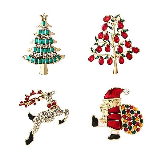 ysd christmas brooch pins set holiday brooch xmas pin lot party favor set christmas tree pins - Christmas Pins
