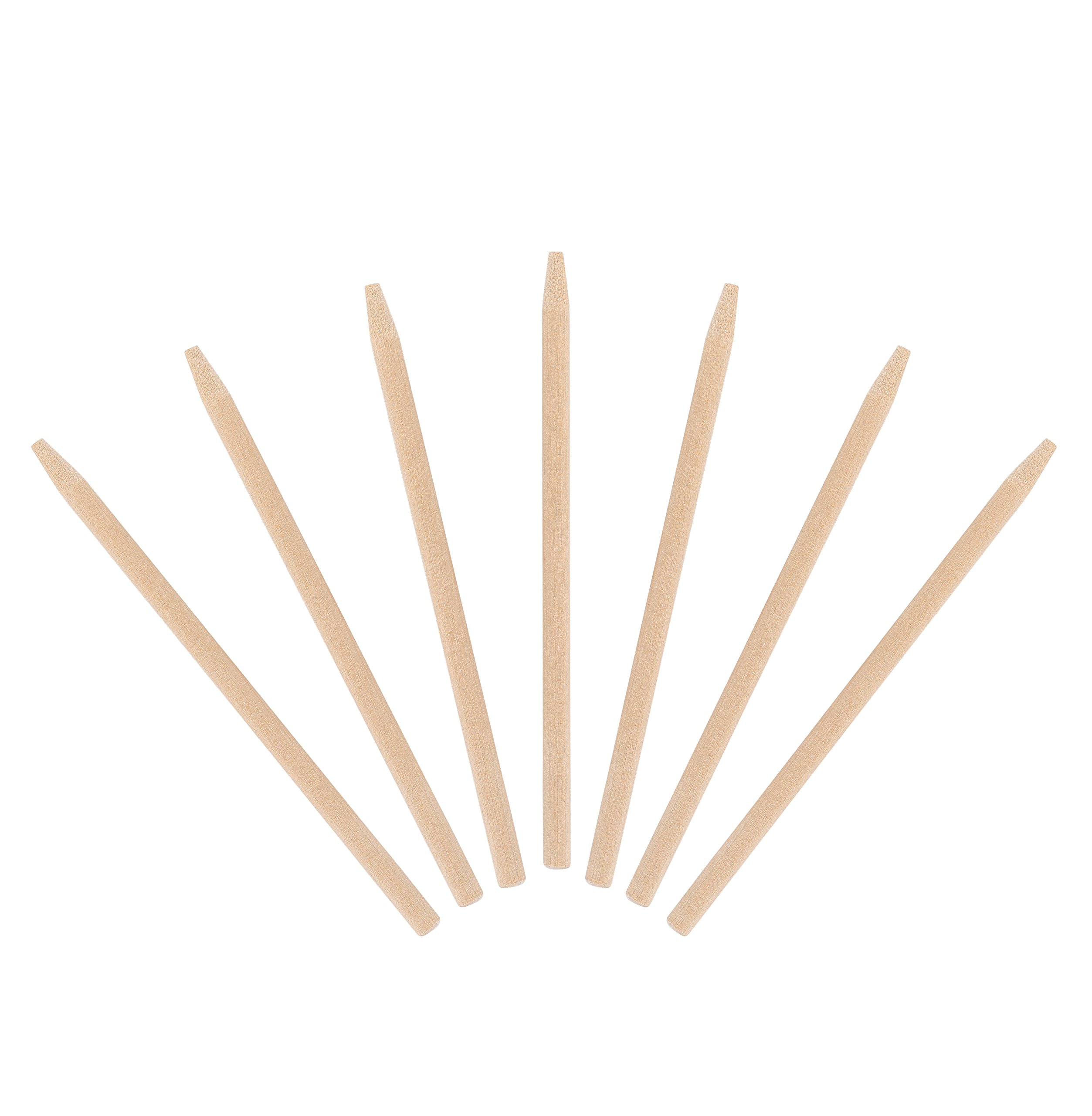 KingSeal Natural Birch Wood Candy Apple Skewers, 5.5 Inch, 6.5mm - Master Case of 5 Packs of 1000 per Pack