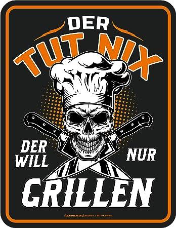 Sonstige Sammler-Werbeschilder Blechschild Grillen IMMER EINE GUTE IDEE GRILL Party Fun Geschenk Barbecue