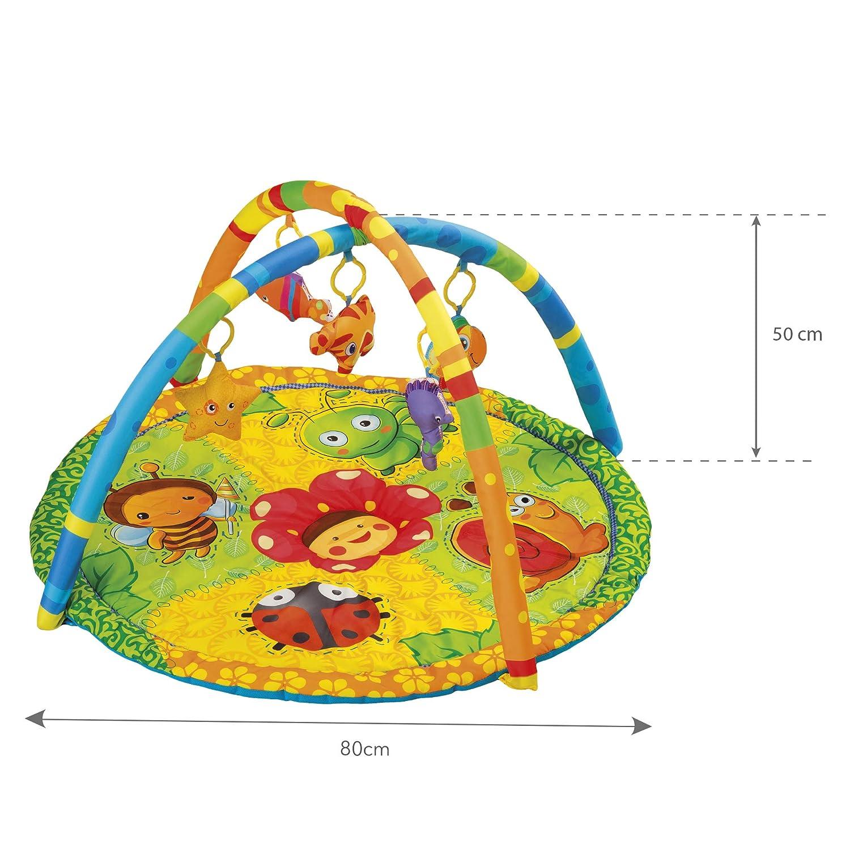 KIDWELL TABI Interaktive Baby-Matte Baby Krabbeldecke mit weichen Spielbogen Spieldecke f/ür Spiel/&Spa/ß Erlebnisdecke 80 cm lang x 50 cm hoch ab Geburt