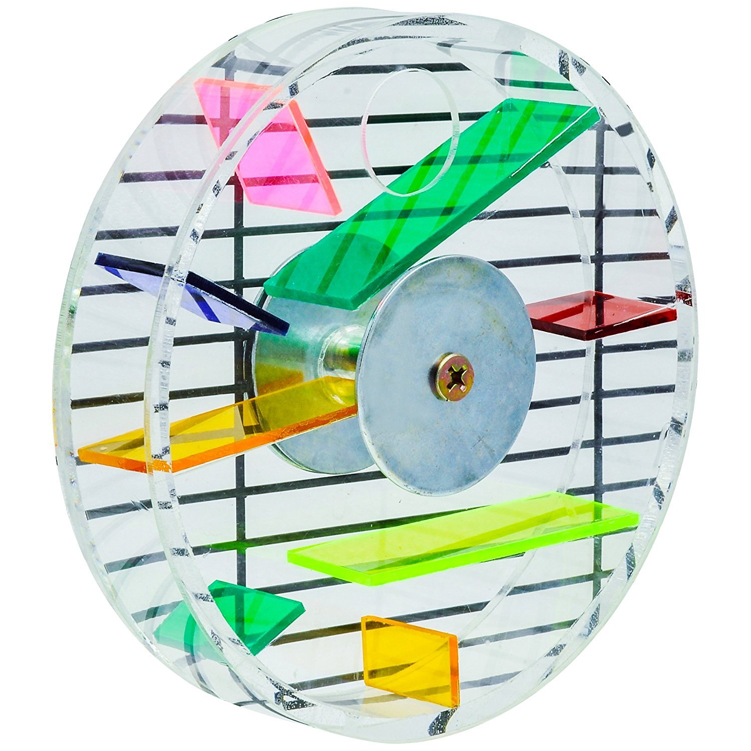 Niteangel Parred Creative Foraging Systems, Foraging Wheel, Bird Foraging Toy, 6-inch Diameter