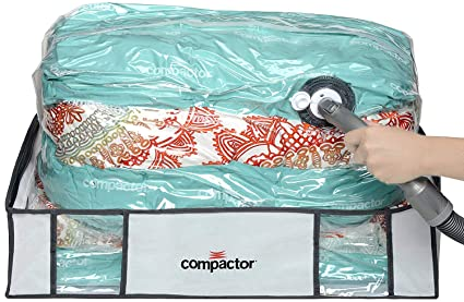 Compactor Space Saver Vacuum Storage Solution Vacuum Bag to Protect Clothes, Pillows, Duvets, Comforters, Blankets (L (26