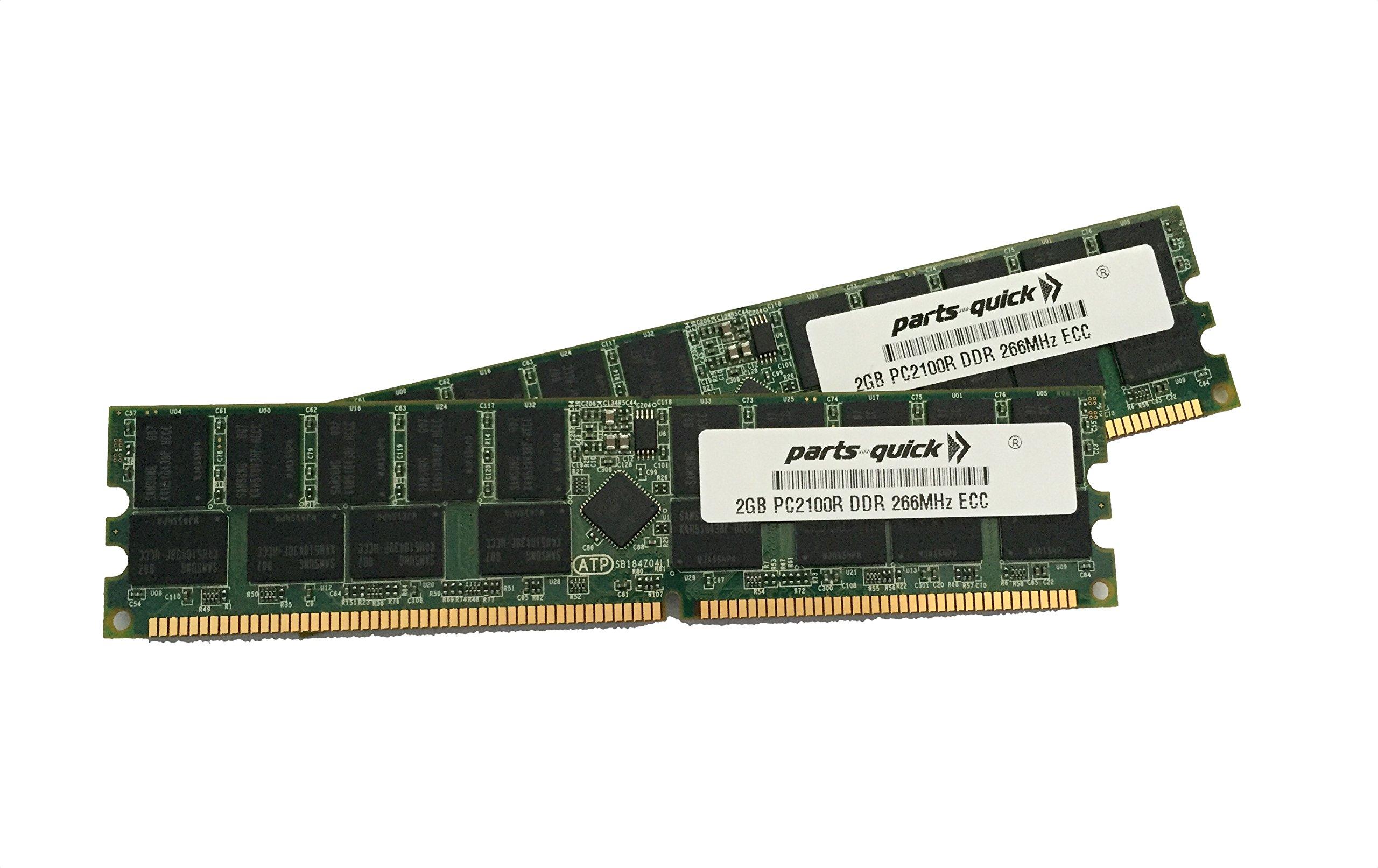 parts-quick 4GB Kit (2 X 2GB) PC2100 Registered 266MHz 184 pin DDR SDRAM ECC DIMM Memory RAM for Dell PowerEdge 650 1750 2600 2650 Server Brand