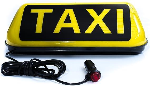 Universal Taxischild Dachschild Dachzeichen Gelb Lampe Licht Beleuchtung 12V  ;