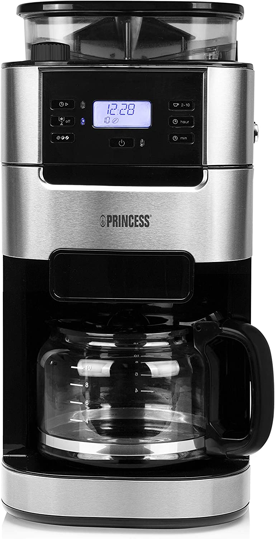 Princess 249411 Cafetera Grind & Brew Roma - Hasta 10 tazas ...