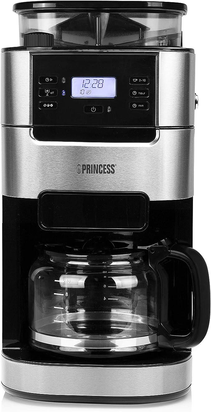 Princess 249411 Cafetera Grind & Brew Roma, Sistema de filtro ...