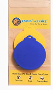 Emma's Choice Pet Dog and Cat FDA Food Grade Can Covers Lids 2 Multi-Size Fits 3 Can Sizes