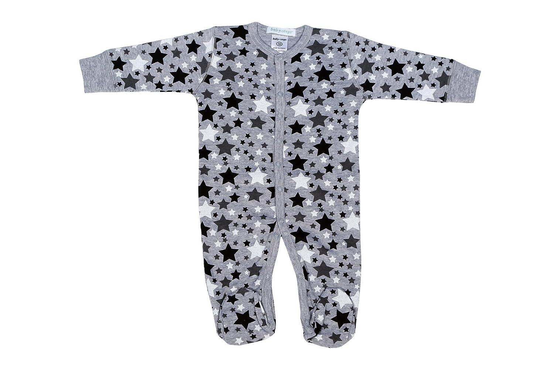 Baby Steps Boys Footie Black Stars