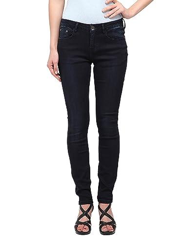 Allée Jeans Women's Dark Blue Mid-Rise Skinny Jeans, Lis (31)