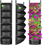 ANGTUO Vertical Hanging Garden Planter with 6 Pockets, New Layout Waterproof Wall Hanging Flowerpot Bag Perfect Solution…