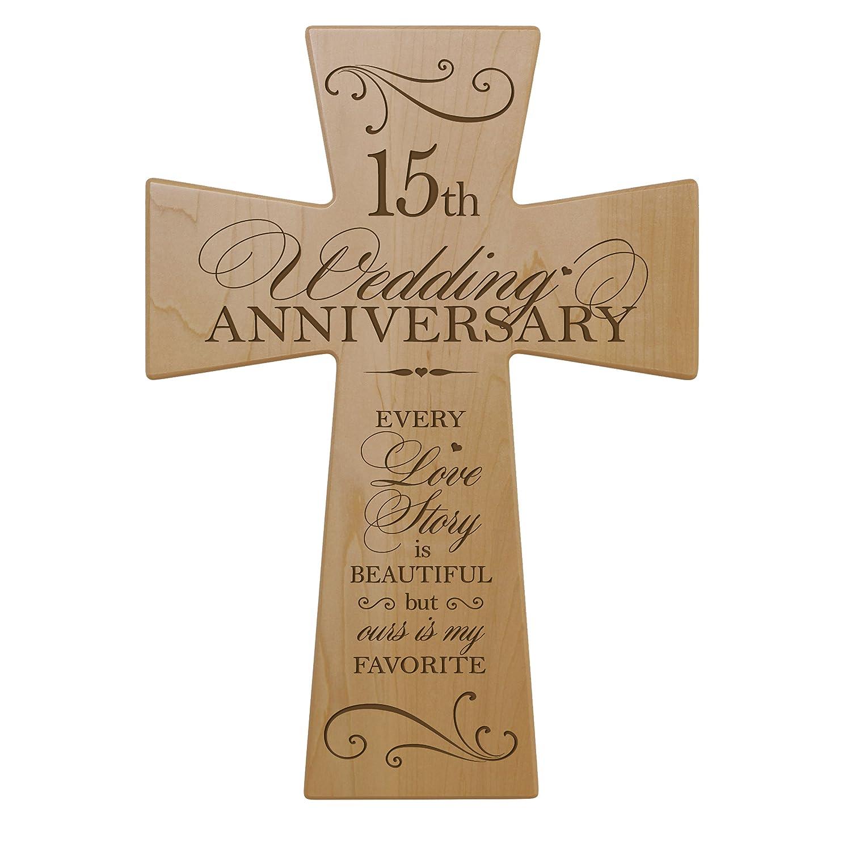Amazon 15th Wedding Anniversary Maple Wood Wall Cross Gift For