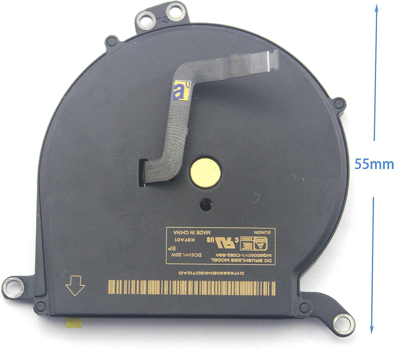 KENAN Laptop CPU Cooling Fan for Apple Macbook Air A1369 A1466 13