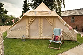 Touareg Bell Tent 5 x 4 metre with zipped in groundsheet by Bell Tent Boutique & Touareg Bell Tent 5 x 4 metre with zipped in groundsheet by Bell ...