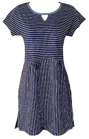 42485c9f2d325 White Stuff New ex Ladies Navy Blue Ivory White Striped Cotton Tunic Top (16)   Amazon.co.uk  Clothing
