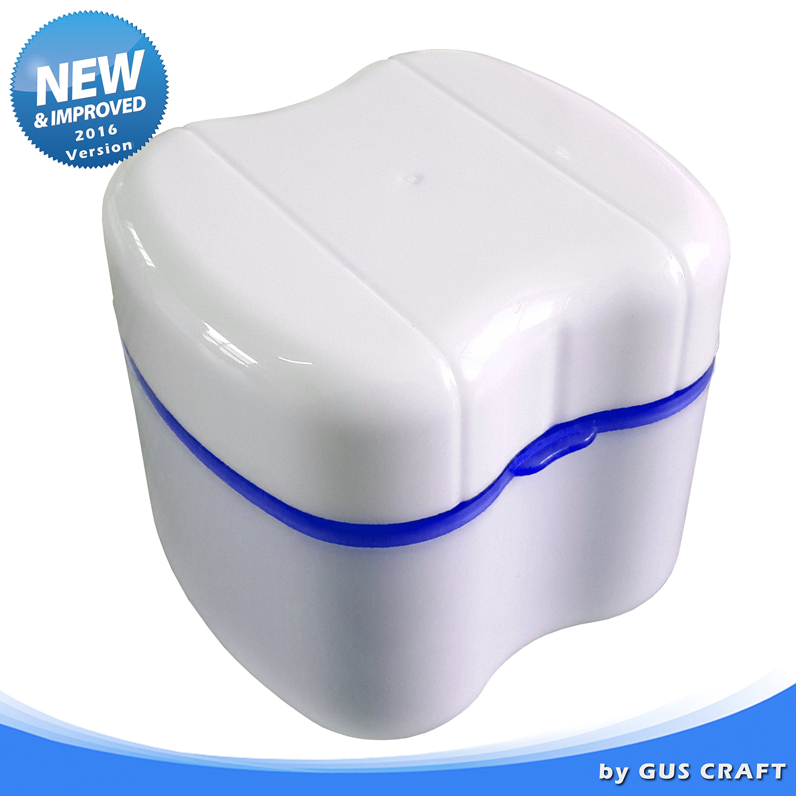 Strong Denture Box with Simple Retrieval Tab, Perfect To Safe Guard Dentures and Valuables, Easy To Open, Store and Retrieve (True Blue)