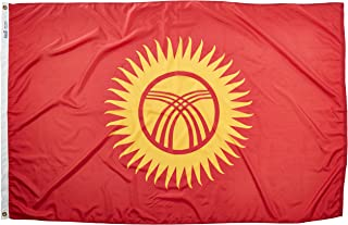 product image for Annin Flagmakers Model 973712 Kyrgyzstan Flag Nylon SolarGuard NYL-Glo, 4x6 ft, 100% Made in USA to Official United Nations Design Specifications