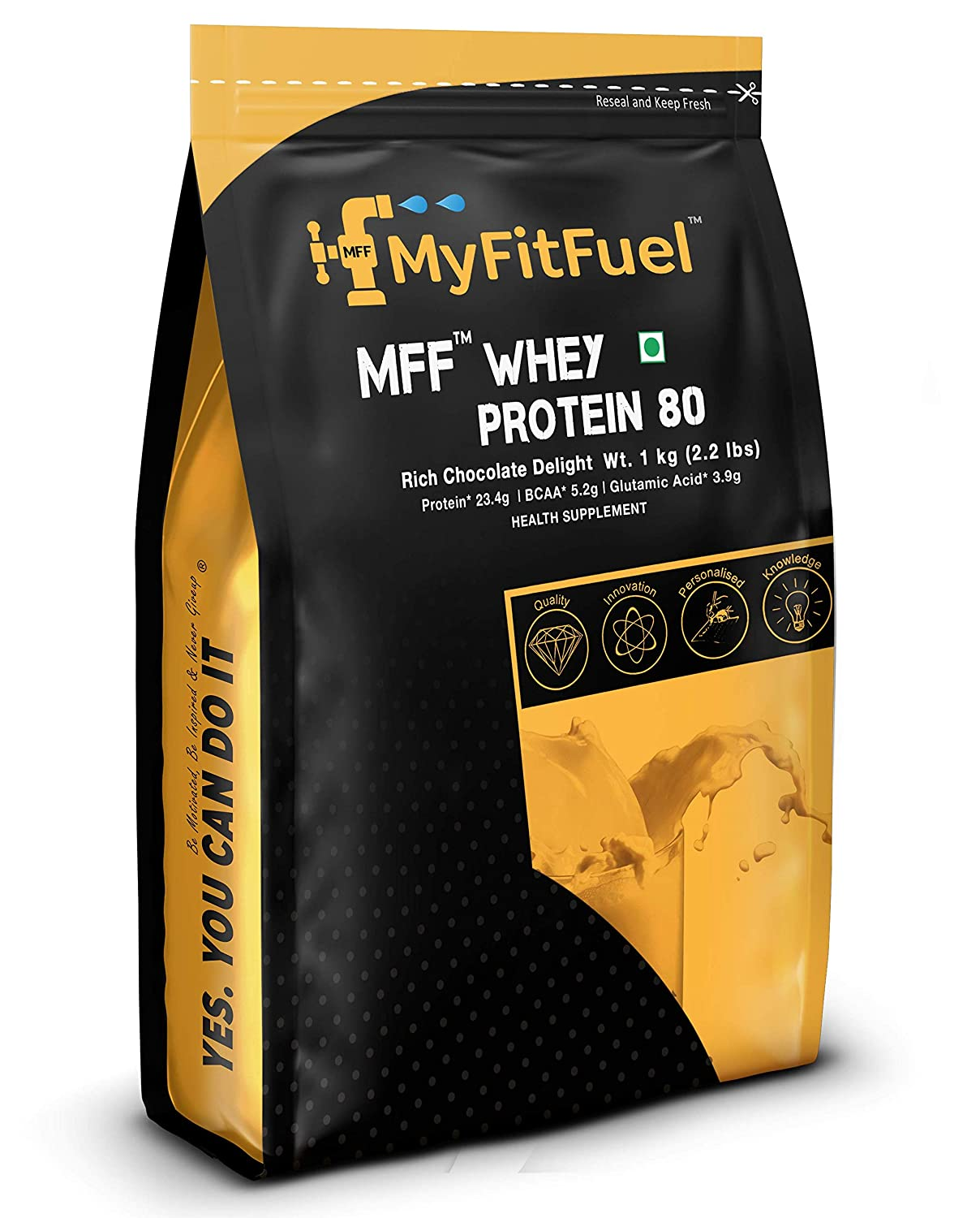 Myfitfuel Mff Whey Protein 80 - 1 Kg (2.2 Lbs) Rich Chocolate Delight