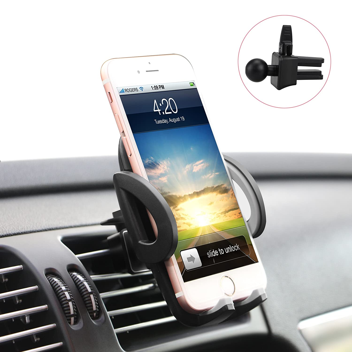 Amazon.com: Quntis Air Vent Car Mount Holder with 360 Rotation and ...