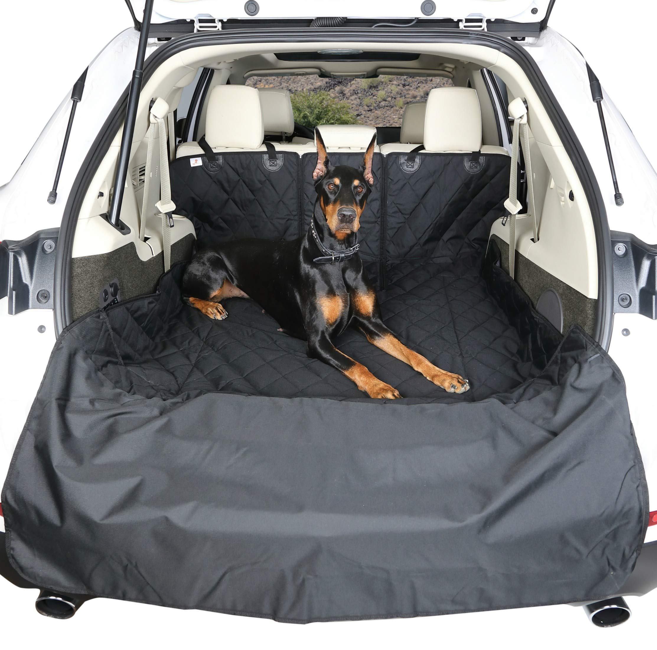 4Knines SUV Cargo Liner for Fold Down Seats - 60/40 Split and armrest Pass-Through fold Down Compatible - Black Extra Large - USA Based Company by 4Knines (Image #3)