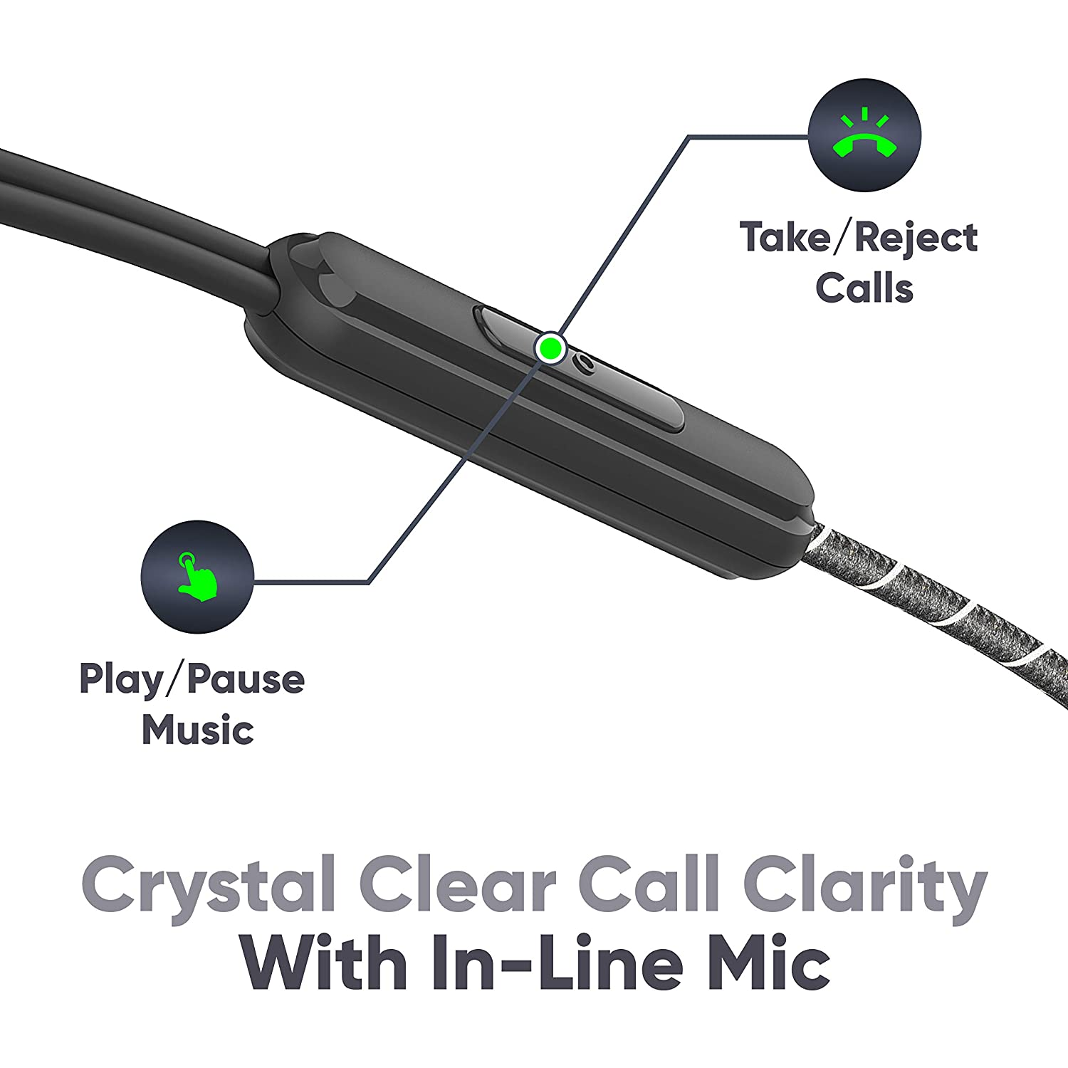 MIVI ROCK AND ROLL W1 WIRED EARPHONES features
