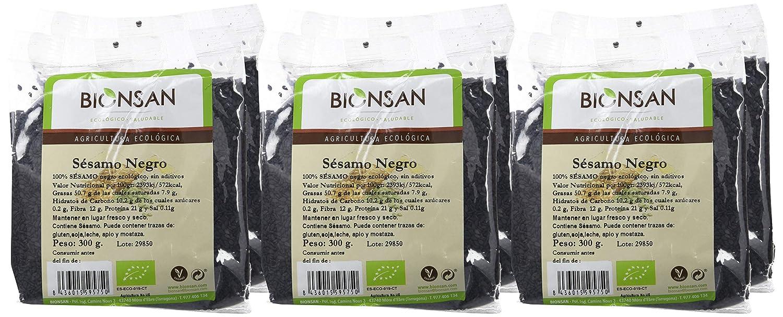 Bionsan Sésamo Negro de Cultivo Ecológico - 6 Paquetes de 300 gr - Total: 1800 gr: Amazon.es: Alimentación y bebidas