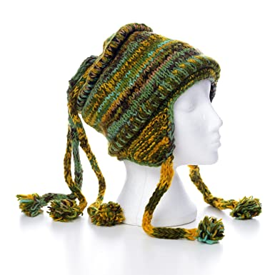 a27e7bdf838563 Warm Hand Knitted Winter Soft Woollen Three String Bobble Hat UNISEX 3TH12:  Amazon.co.uk: Clothing