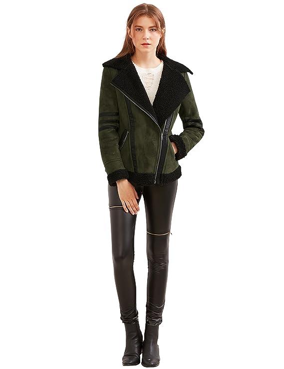SheIn - Abrigo - chaqueta - Manga Larga - para mujer verde ...