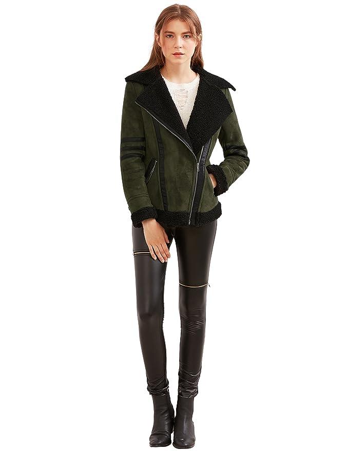 SheIn - Abrigo - chaqueta - Manga Larga - para mujer verde Ejercito Verde Medium: Amazon.es: Ropa y accesorios