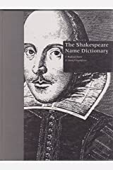 The Shakespeare Name Dictionary