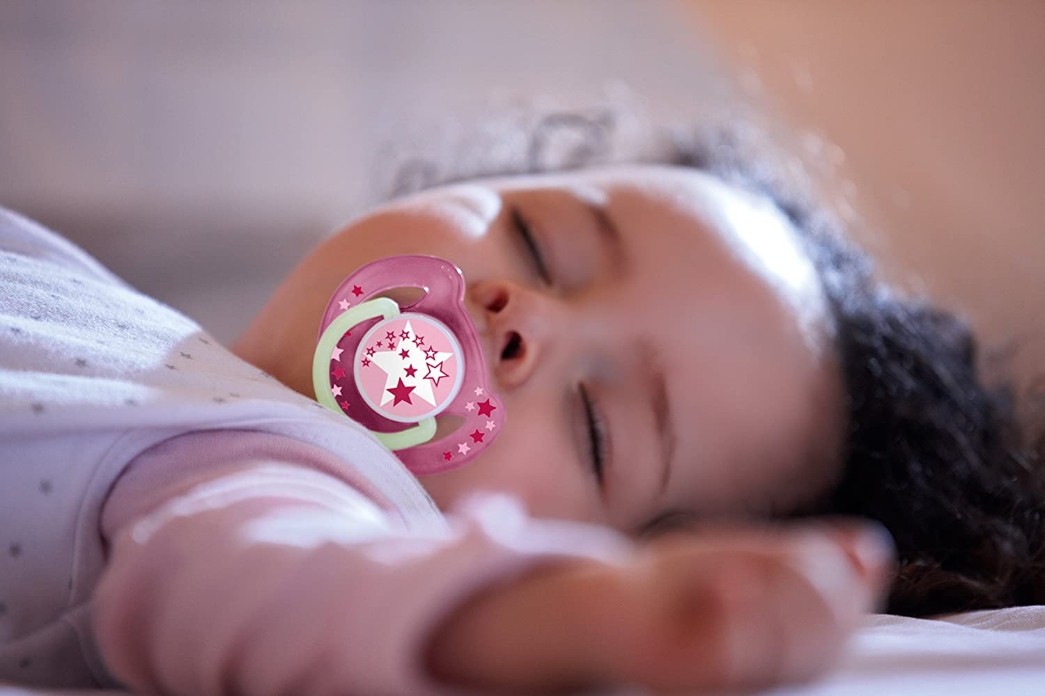 Philips Avent Scf176 24 Pacifier Night Glow In The Dark Pack Of 2 Orthodentic Soother 6 18m Pink Box Contains X Aventnight Time