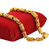 Fashion N More Golden Plated Alloy Temple, Ethnic Curb Chain for Boys, Men