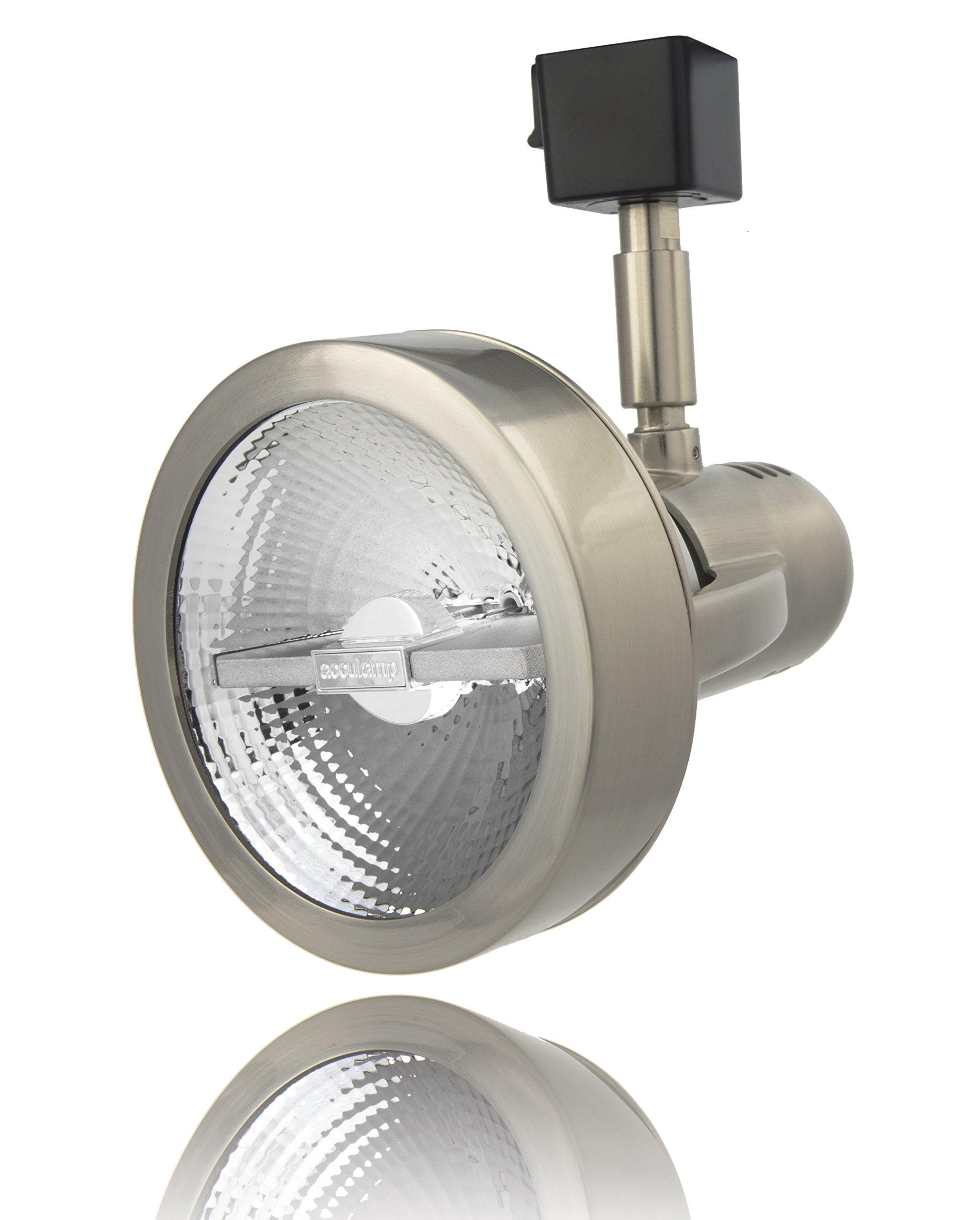 Lithonia Lighting LTH4000 PAR30 BN M24 1-Light Front Loading Commercial Track Head, 1-2 Circuit, Aluminium, PAR30-Compatible Led, Brushed Nickel